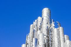 Sibelius-monumentti. Monument in stainless steel. royalty free stock photography