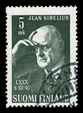Sibelius on a stamp Stock Photography
