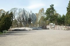 Sibeliuspark & Monument Stock Afbeeldingen