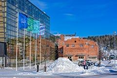 Sibeliustalo Sibelius Hall, Lahti, Finlande Photos stock