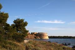 Sibenik圣尼古拉斯堡垒 免版税库存图片