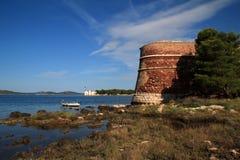 Sibenik圣尼古拉斯堡垒 库存照片