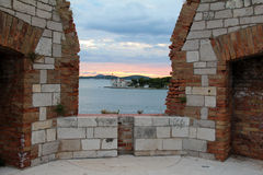 Sibenik圣尼古拉斯堡垒 库存图片