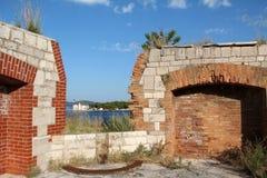 Sibenik圣尼古拉斯堡垒 免版税库存照片