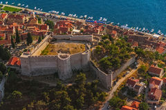 Sibenik圣约翰岛堡垒 免版税库存照片