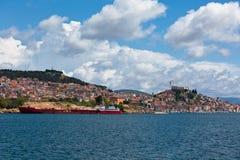 Sibenik, άποψη της Κροατίας από τη θάλασσα Στοκ Φωτογραφίες