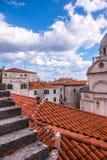 SIBENIK, Хорвати-май 26,2017: Собор St James в Sibenik, месте всемирного наследия ЮНЕСКО в Хорватии Sibenik, собор, Хорватия Стоковое Изображение