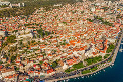 Sibenik aerial Royalty Free Stock Photography