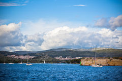 Sibenik bay, Croatia view Stock Images