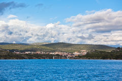 Sibenik bay, Croatia view from the sea Royalty Free Stock Images