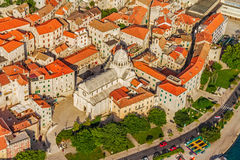 Sibenik cathedral aerial Stock Photo