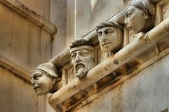Sibenik Cathedral heads Royalty Free Stock Photos