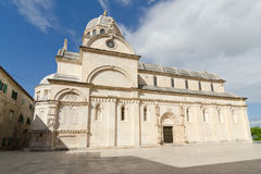 Sibenik. Cathedral. The Cathedral of St. James in Sibenik, built entirely of stone and marble, Croatia Stock Photo