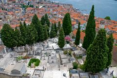 Sibenik cementery in Croatia Stock Photography