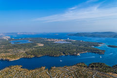 Sibenik channel aerial Royalty Free Stock Photography
