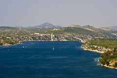 Sibenik channel and bridge Stock Photos