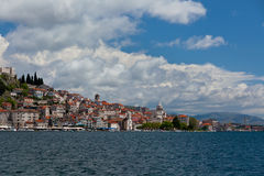 Sibenik, Chorwacja widok od morza Obraz Stock