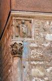 Sibenik. Column. A corner of the historical center of the Croatian town of Sibenik Royalty Free Stock Photography