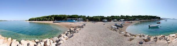 Sibenik Croatia overview. Solaris overview of the beach in Sibenik in Croatia Royalty Free Stock Photos