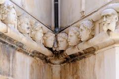 Sibenik Croatia St. James cathedral heads Royalty Free Stock Image