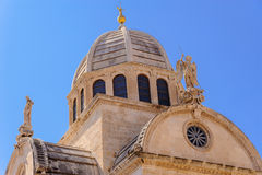 Sibenik Croatia St. James  dome Royalty Free Stock Photo