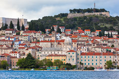 Sibenik, Croatia view from the sea Stock Image