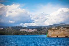 Sibenik, Croatia view from the sea Royalty Free Stock Photos
