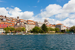 Sibenik, Croatia view from the sea Stock Images