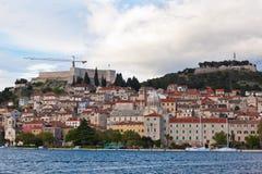 Sibenik, Croatia view from the sea Royalty Free Stock Image
