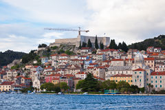 Sibenik, Croatia view from the sea Royalty Free Stock Images