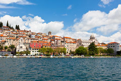 Sibenik, Croatia view from the sea Stock Image