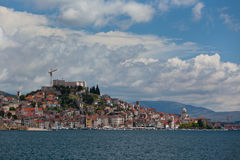 Sibenik, Croatia view from the sea Stock Photos