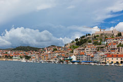 Sibenik, Croatia view from the sea Stock Images