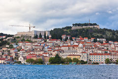 Sibenik, Croatia view from the sea Royalty Free Stock Photos
