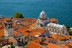 Sibenik, Croatie Photos libres de droits
