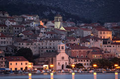 Sibenik at dusk, Croatia Stock Images