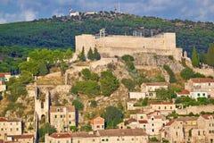 Sibenik fortress on the hill Stock Photos