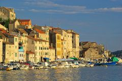 Sibenik harbor Stock Photography