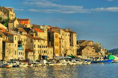 Sibenik harbor Royalty Free Stock Photography