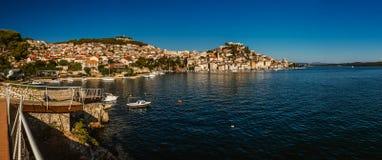 Sibenik jest historycznym miasteczkiem w Chorwacja Obrazy Stock