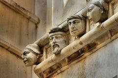 Sibenik-Kathedralenköpfe Lizenzfreie Stockfotos