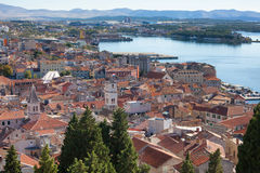 Sibenik, Kroatië, oude stad royalty-vrije stock fotografie