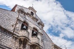 SIBENIK, maj 26,2017: St James katedra w Sibenik, UNESCO światowego dziedzictwa miejsce w Chorwacja Sibenik katedra, Chorwacja Obrazy Stock