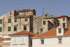 Sibenik old houses Royalty Free Stock Photos