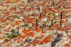 Sibenik old town aerial Stock Photography