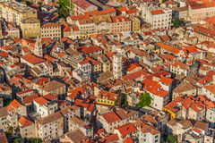 Sibenik old town aerial Royalty Free Stock Photos