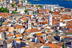 Sibenik old town aerial view Royalty Free Stock Images