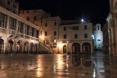 Sibenik square at night Royalty Free Stock Photography