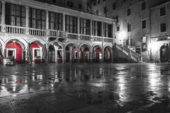 Sibenik square at night Stock Images