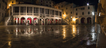 Sibenik square at night Royalty Free Stock Image